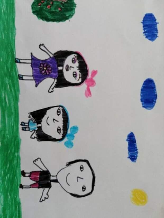 Это правда - дети любят рисовать´. В лагере сегодня прошла выставка рисунков ´ Молодая семья кристалл общества´. В рисунках д...