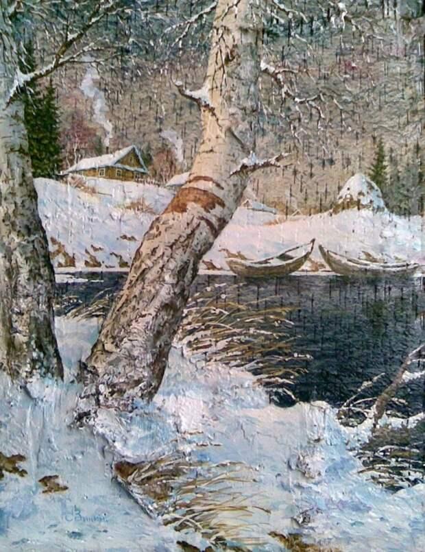 Картины на бересте Сергея Александровича Зинина. Часть 1 (45 фото)
