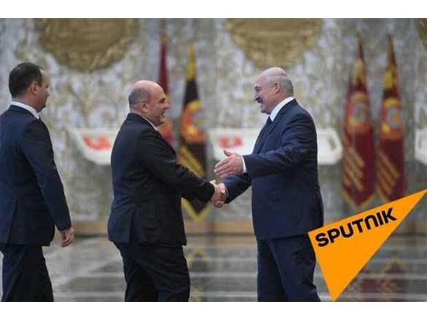 Мишустин прибыл в Минск, идут переговоры с Лукашенко