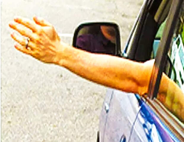 Попутный водитель взмахивает рукой и резко указывает на обочину. Что это значит