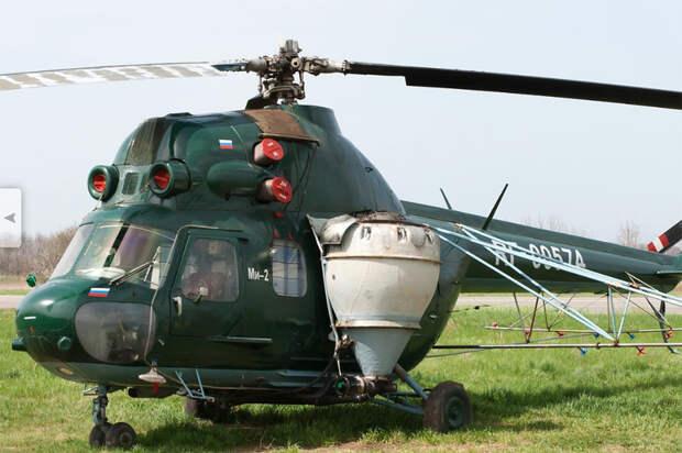 Пилот погиб при крушении вертолёта на Кубани
