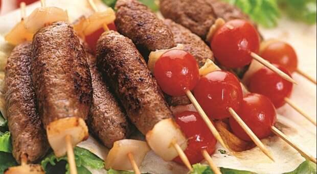 Люля-кебаб еда, креветки, люля-кебаб, шашлык, шурпа