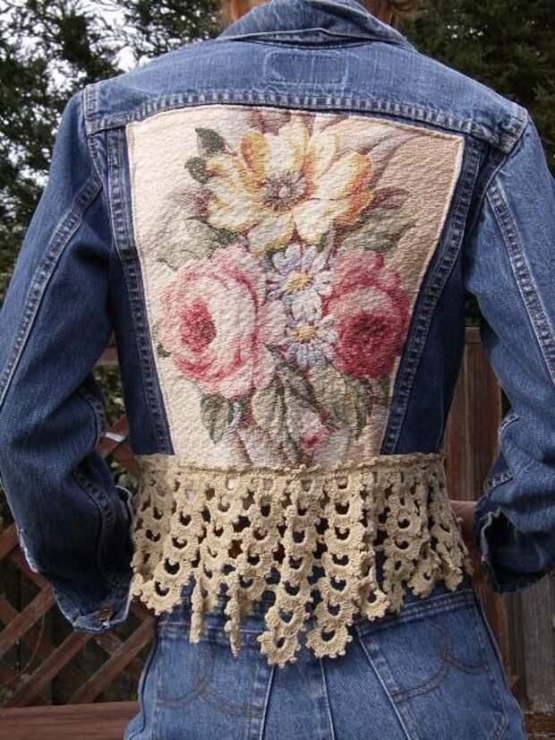 Старые джинсы в дело!✂ ✂ ✂ Сшить все рванины, полоски и ленточки - какая красотища несказанная на выходе!