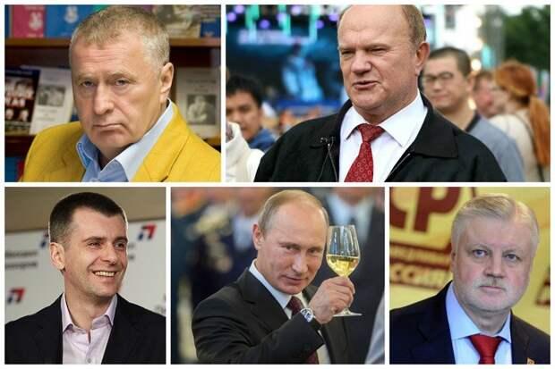 В выборах 2012 года участвовали все известные лица - Жириновский, Зюганов, Миронов, Прохоров, Путин выборы, известные, кандидаты жизнь, президент, что делают
