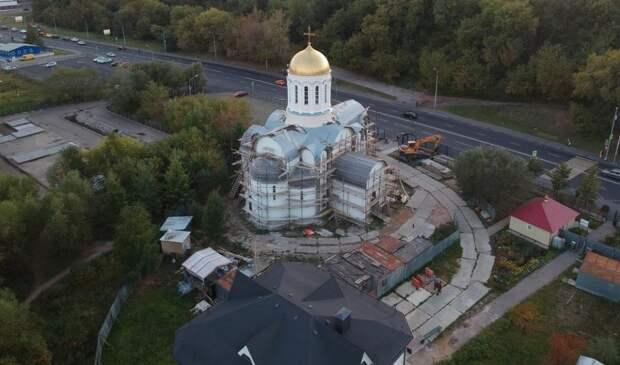 Храм в честь преподобного Сергия Радонежского на улице Василия Петушкова будет введен в эксплуатацию к лету