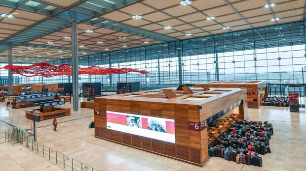 Главный терминал аэропорта Берлин-Бранденбург