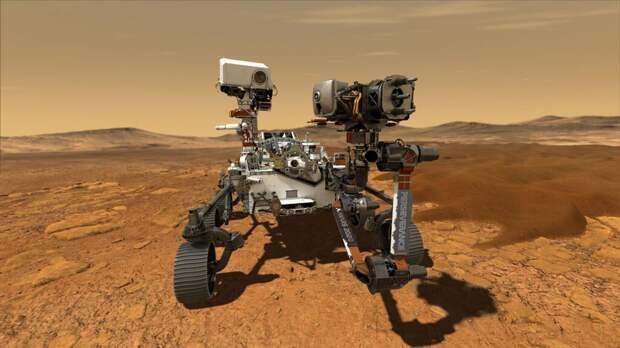 Марсоход Perceverance успешно совершил посадку на Марсе