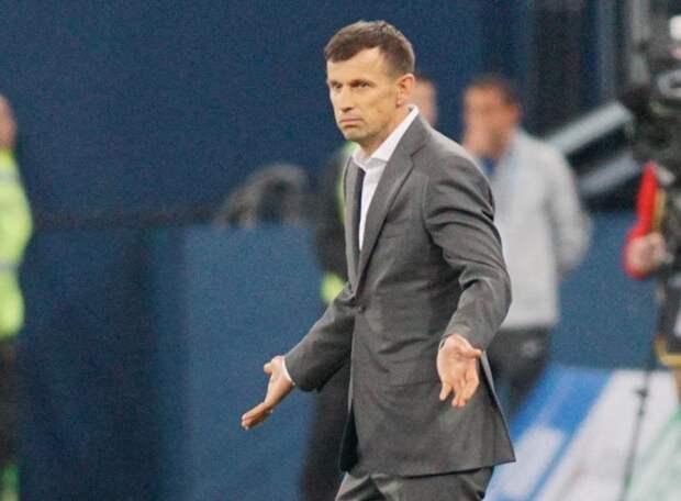 Сергея Семака первый раз спросили про отставку, а также про Оздоева, Дзюбу и Барриоса, которые играют всё время