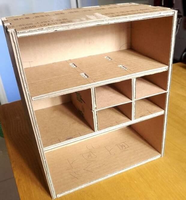 Мебель из картона: оригинальные идеи создания кукольных предметов (51 фото)