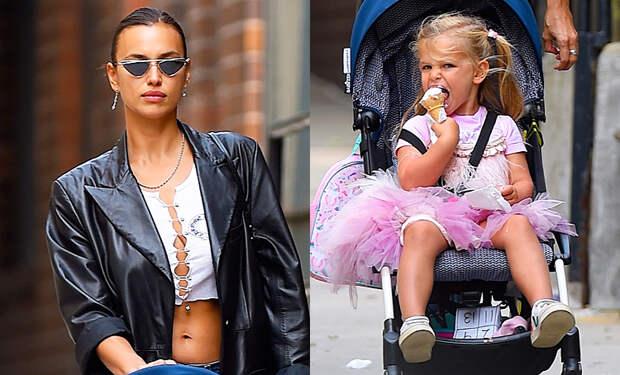 Бунтарка и принцесса: Ирина Шейк на прогулке с дочерью Леей в Нью-Йорке