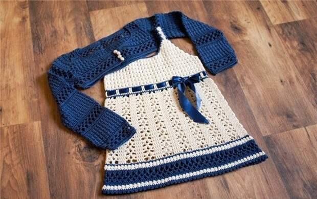 Комплект РУСАЛОЧКА - сарафанчик и болеро для девочки
