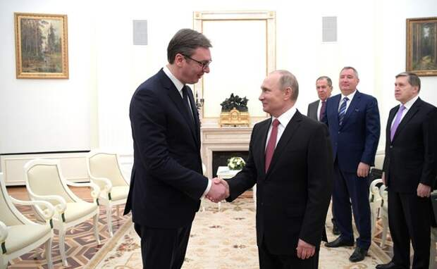 Владимир Путин прибыл с визитом в Сербию