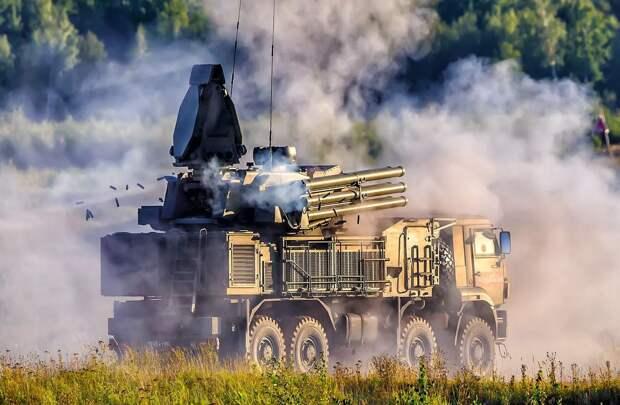 Российский ЗРПК «Панцирь-С1» отбил масштабную атаку турецких беспилотников