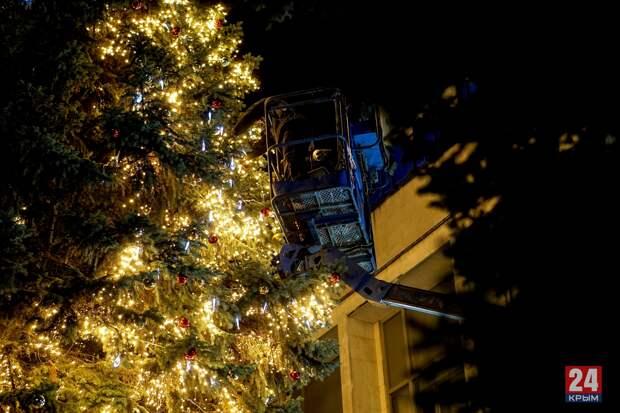 Как выглядит новогодний Симферополь. ФОТОРЕПОРТАЖ