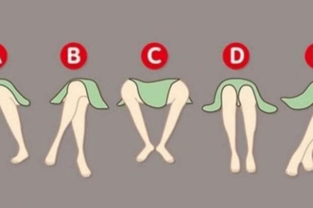 Как расположены ваши ноги в сидячем положении?