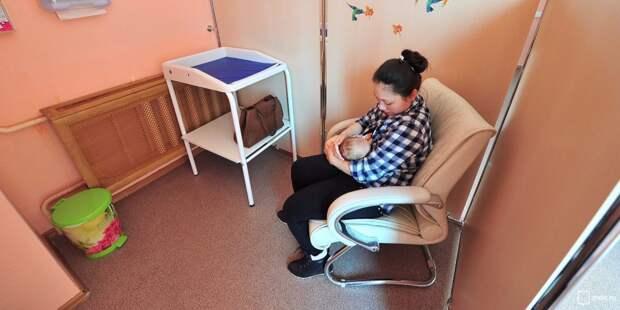 В детской поликлинике на бульваре Яна Райниса появилась комната для кормления