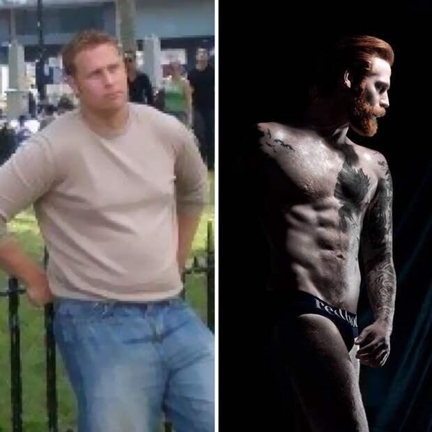 Снимок слева говорит сам за себя. 22 года, лишний вес, болезни, затворнический образ жизни Круто получилось, борода, внезапно, до и после, изменения внешности, истории из жизни, истории людей, мужская красота