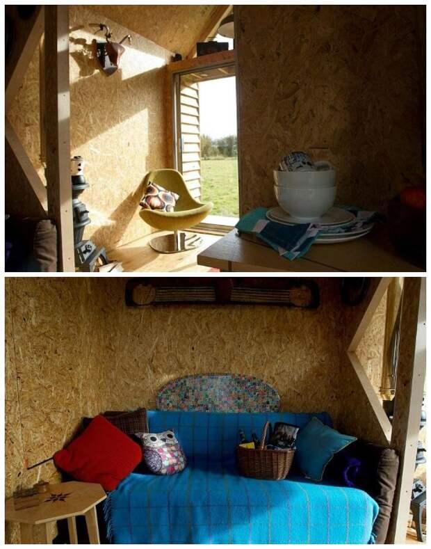 В домике обустроили полноценную кухню и уютную гостиную. | Фото: bigpicez.pw.