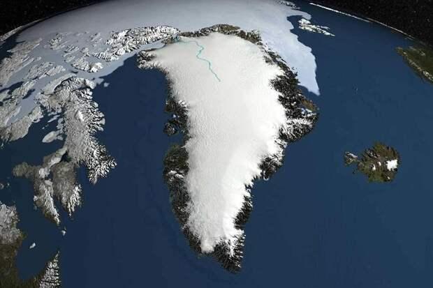 Под ледяным куполом Гренландии обнаружили реку длиной 1600 километров