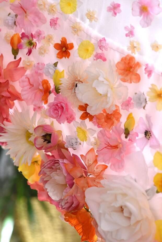 Шторы с цветами (трафик)