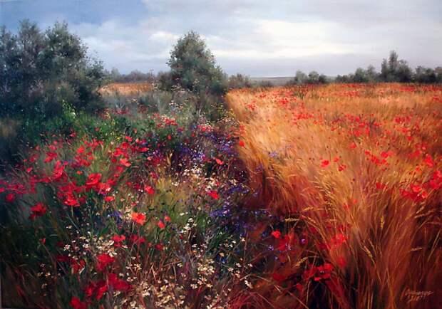 Чудесные цветочные пейзажи Ольги Одальчук