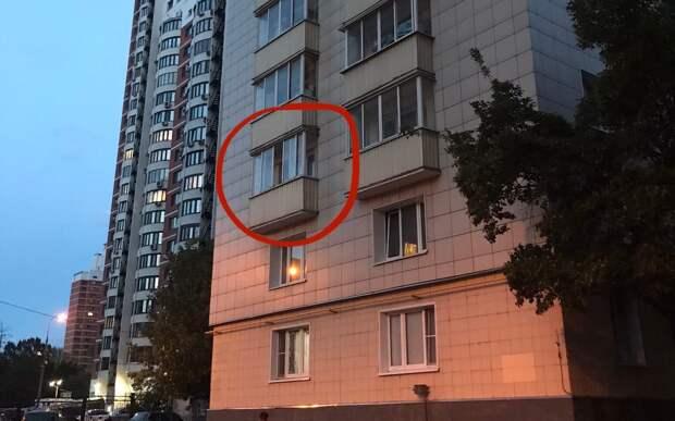 На Карамышевской набережной с третьего этажа выпала кошка
