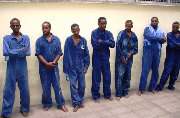 Сомалийские пираты в заключении