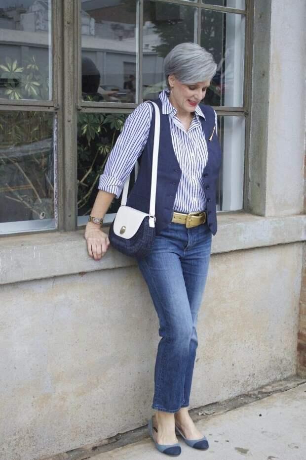 Как стильно носить рубашку с джинсами