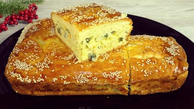 Заливной пирог, вместо пирожков, можно готовить хоть каждый день: только начинку меняй (проверенный рецепт)