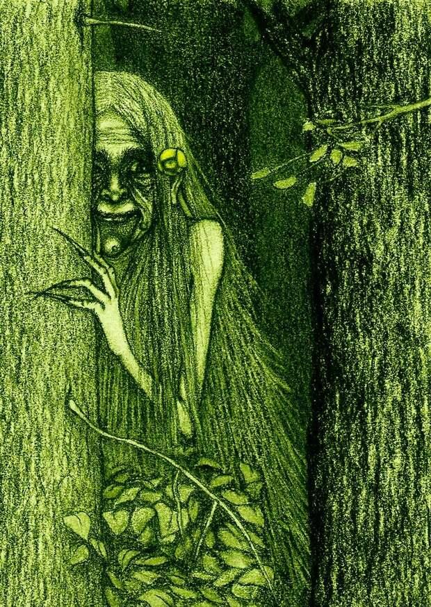 Встреча с лесной женщиной.