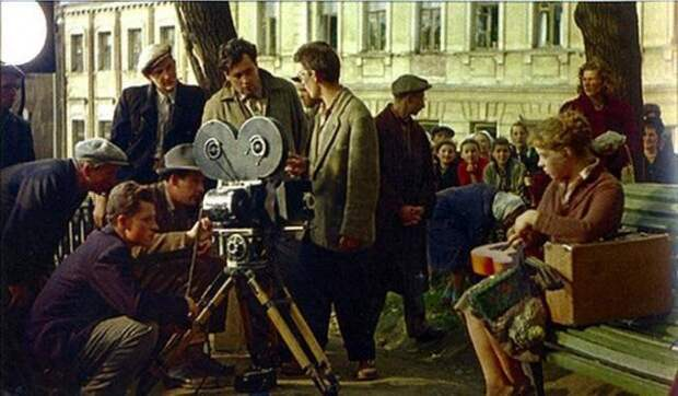 Интересные кадры со съемочной площадки советских кинофильмов