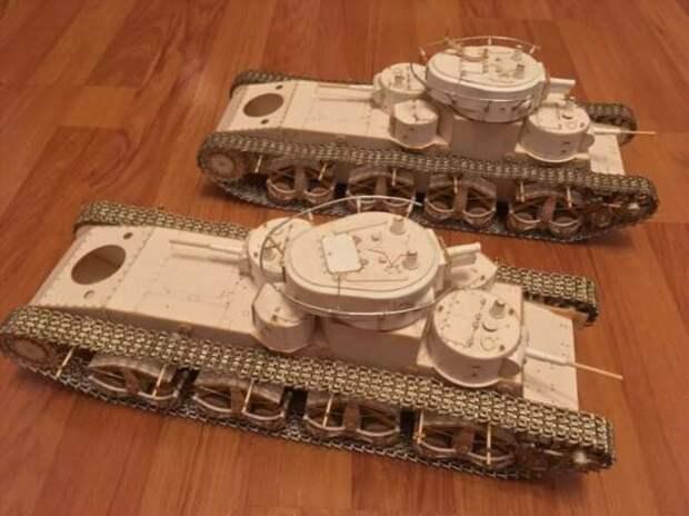 T-35 масштаб 1/25 лазерная резка (8 фото)
