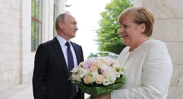 Блог Павла Аксенова. Анекдоты от Пафнутия. В.В.Путин и А.Меркель в Сочи