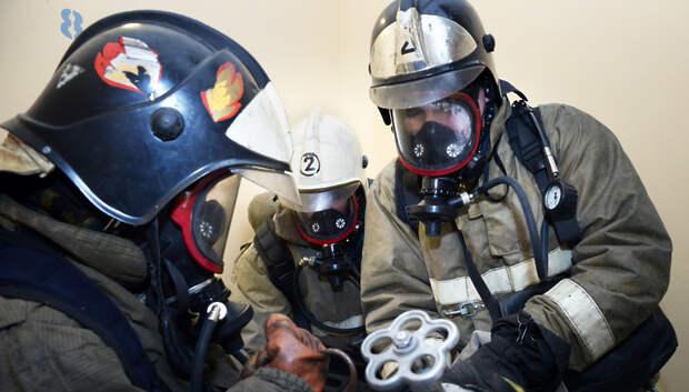 Пожарные в Подольске локализовали возгорание на площади 1 тыс кв м
