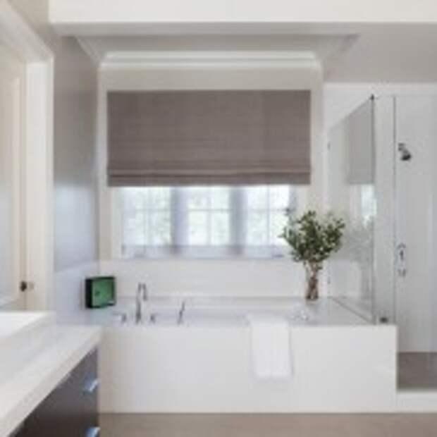 Белоснежная ванная в восточном стиле