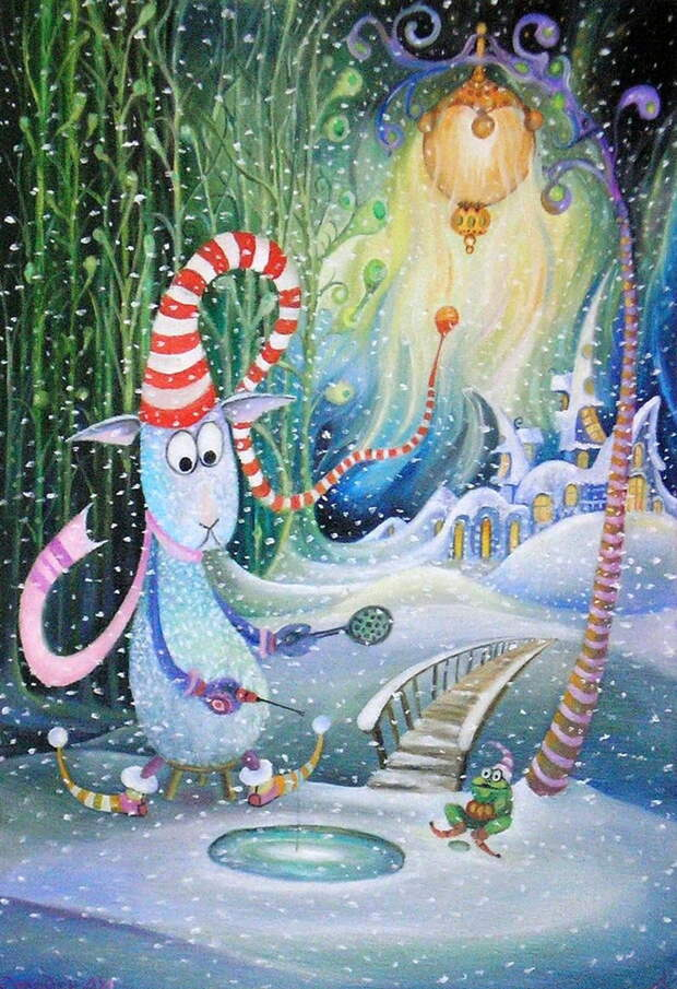 Старинные приметы Рождества, художник Александр Колодин
