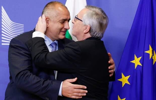 Премьер-министр Болгарии Бойко Борисов (слева) и председатель Еврокомиссии Жан-Клод Юнкер