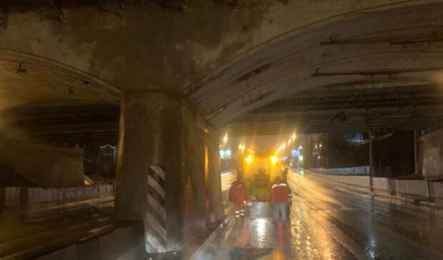 ВРостове устранили ямы под мостом наНагибина