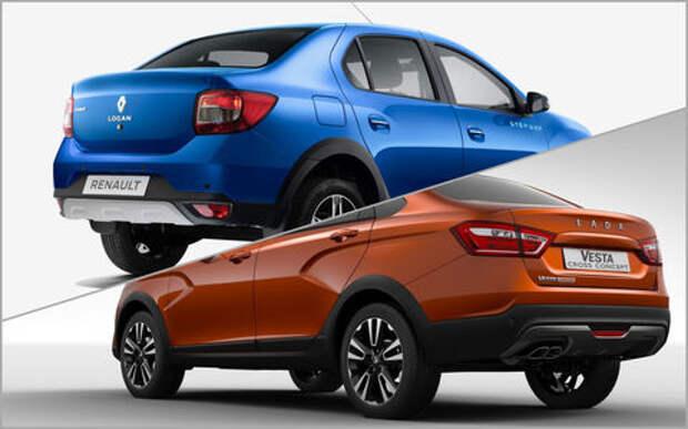 Lada Vesta Cross или Renault Logan Stepway - что выбрать?