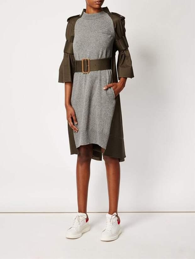 Платье из плаща