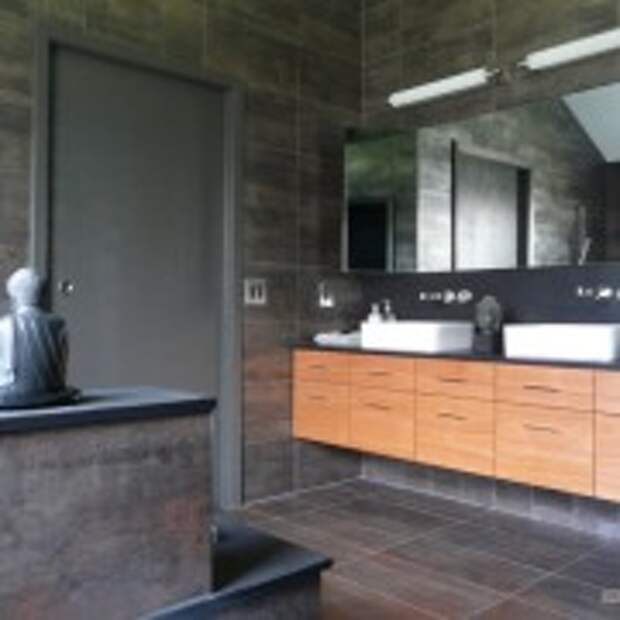 Оттенки серого в ванной