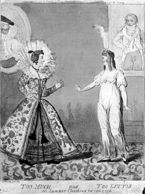Корсеты, криналины, инкруаябли и другие модные штучки, которые носили женщины и высмеивали мужчины