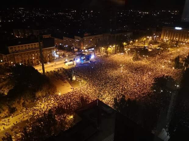 На концерт Лепса в ДНР в Донецке пришло несколько десятков тысяч человек