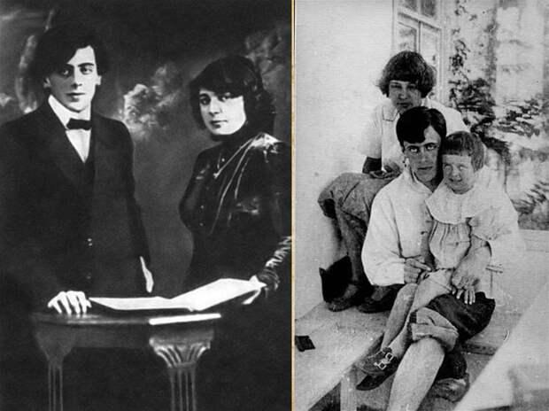 Счастливая семья: Сергей, Марина и Аля в 1916 году