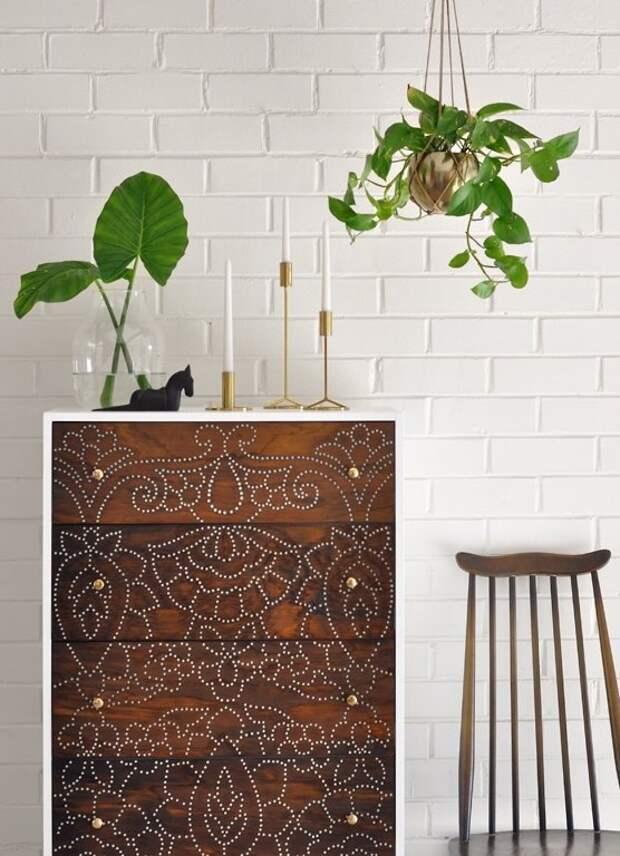 как переделать мебель своими руками делаем необычный комод или тумбочку