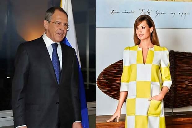 Сергей Лавров с дочерью Екатериной.