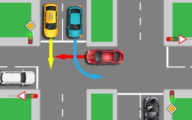 Не успел на зеленый - и кто теперь уступает дорогу?
