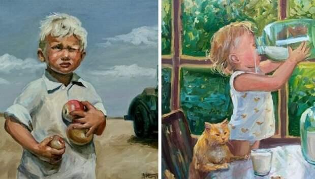 Простое человеческое счастье в картинах Настасьи Чудаковой