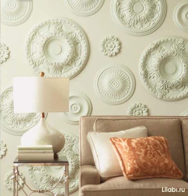 Украшение стен декоративной лепниной