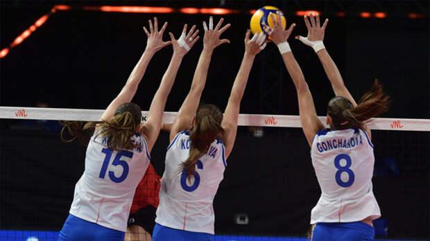 Российские волейболистки проиграли третий матч подряд в Лиге наций